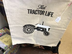 "Chalk Embellished pillow cover""That tractor life"" for Sale in Edgewood, NM"