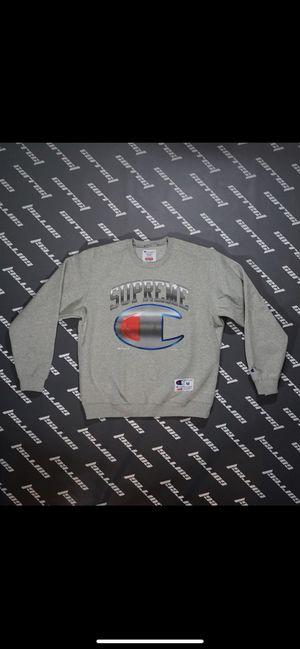Supreme Champion Chrome Crewneck Grey Medium for Sale in Henderson, NV