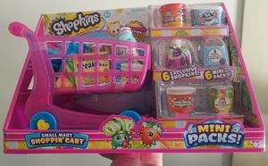 New Shopkins Pink Mini shopping cart with Exclusive shopkins included for Sale in Marietta, PA