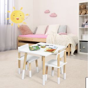 New Kids Wooden Table & 2 Chairs Set Children Activity Table Set for Sale in Whittier, CA