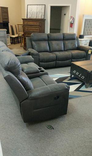 $39 Down  🍃🍂 BEST DEAL SPECIAL] Kempten Black LED Reclining Living Room Set 306 for Sale in Jessup, MD