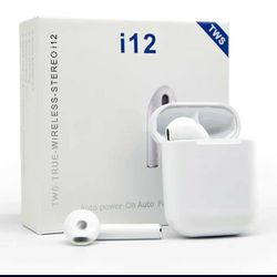 TWS i12 AERBUDS WIRELESS STEREO TRUE, BLUETOOTH 5.0... FOR IPHONE AND ANDROID for Sale in Kissimmee,  FL