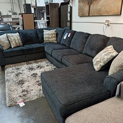 NEW, EXTRA LARGE U SHAPPED, LAF CORNER CHAISE SECTIONAL, SLATE COLOR. for Sale in Santa Ana,  CA