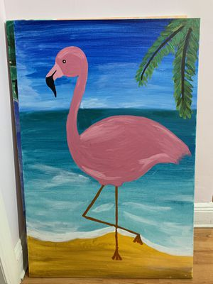 Flamingo painting for Sale in Brooklyn, NY