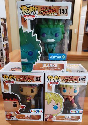Lot of 3 Street Fighter Funko Pops! for Sale in Arlington, WA