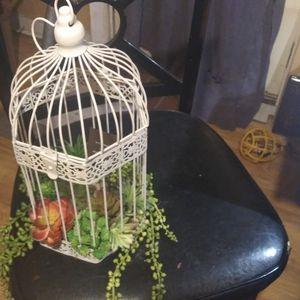 Hand Crafted Birdcage Faux Succulent Terrarium for Sale in Alexandria, LA