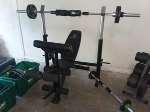 MARCY ADJUSTABLE BENCH SET W/ PREACHER CURL for Sale in Valrico, FL