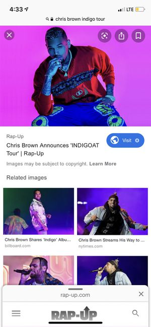 [HALF OFF] CHRIS BROWN INDIGOAT TOUR TIX for Sale in Chicago, IL