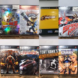 Playstation 2/ Ps2 Games, Lots of Good Titles (Need for Speed Carbon, Tony Hawk, God of War, Dragonball Budokai 2, and more!) 🕹❄️🎮 for Sale in Pacheco, CA