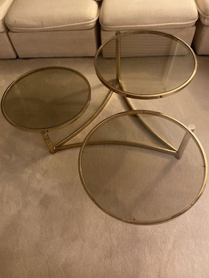 Glass coffee table for Sale in Needham, MA