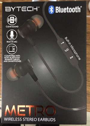 BYTECH WIRELESS STEREO EARBUDS for Sale in Cleveland, OH