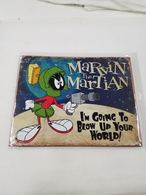 Marvin the Martian cartoon character metal sign for Sale in Vancouver, WA