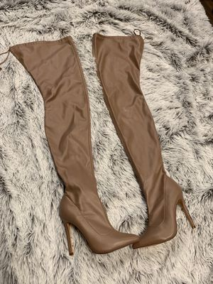 NEW! Sexy thigh high nude boots SIZE 6 for Sale in Renton, WA