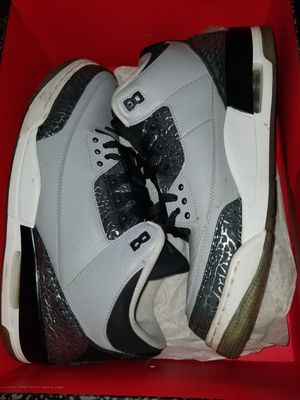 Air jordan wolf grey 3s sz 13 for Sale in Valley View, OH