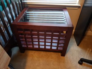 Glass and wood end tables for Sale in Odenton, MD