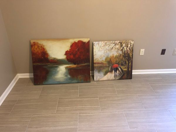 Two framed prints