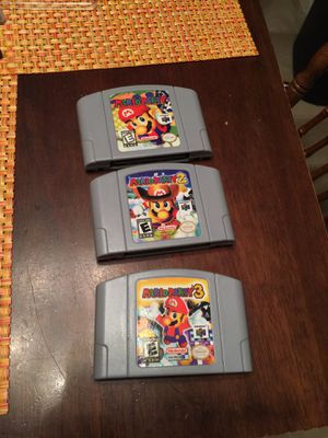 Mario Party 1 2 3 Nintendo 64 N64 for Sale in Bakersfield, CA