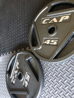45 LB Olympic Plates by CAP Barbell, 2 Inch hole ( Pair ) for Sale in Fremont, CA
