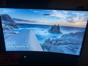 "Samsung curved monitor 24"" for Sale in Humble, TX"