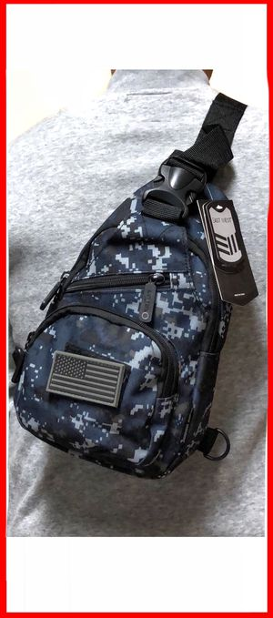 NEW! Small Compact Digital Camouflage Tactical Military Style Sling Side Crossbody Bag gym bag work bag travel backpack molle camping hiking biking c for Sale in Carson, CA