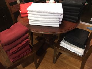 Tablecloths/ Linens: Red, White, Black, and Burgandy for Sale in Bothell, WA