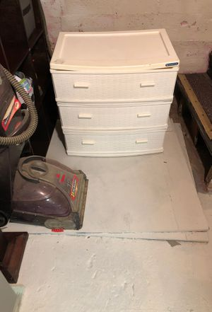 Three drawer plastic for Sale in Chelsea, MA