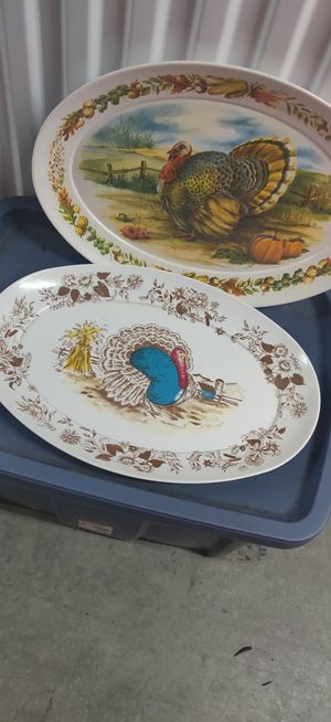 Plates/Platters Perfection for the dinning Room Table both for$15 or 1 for $10 for Sale in Seattle, WA