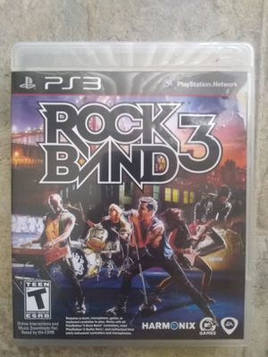 Rock Band 3 Ps3 for Sale in Fresno, CA