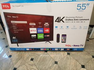 NEW!! 55' TCL 4K UHD/ HDR SMART TV....ROKU TV!! for Sale in Grand Prairie, TX