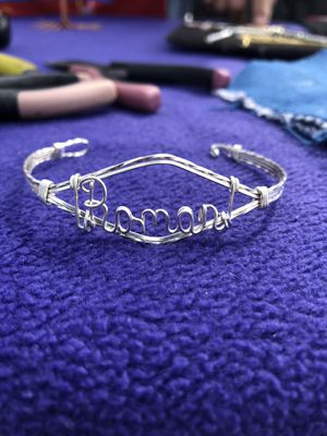 Custom Wire Nameplate Bracelet Sterling Silver for Sale in Cleveland, OH