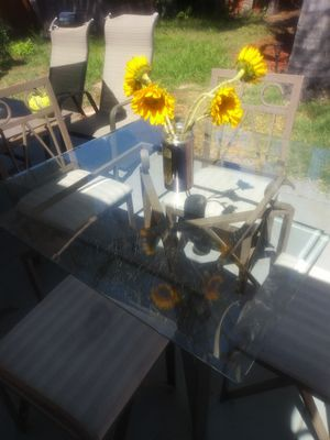 Glas table with 4 matching chairs for Sale in San Diego, CA