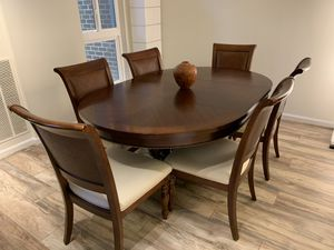 Solid cherry pedestal dining table for Sale in Reston, VA