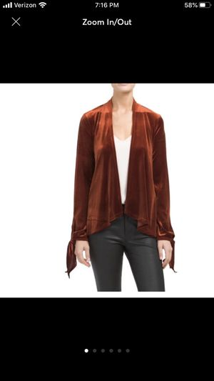 W5 Velvet Open Rust Cardigan for Sale in Chicago, IL