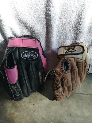 Kids softball gloves for Sale in Stockton, CA