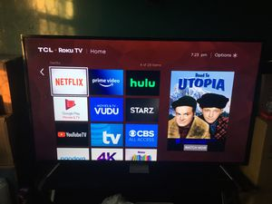 Ultra 4K TCL ROKU TV 65 inch with tv stand pick up only for Sale in The Bronx, NY