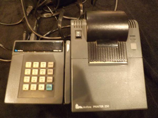 Tranz Credit Card Machine 330 and Verifone Printer 250