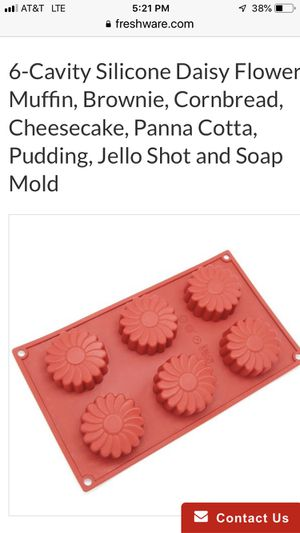fresh ware silicone daisy molds for Sale in Hialeah, FL
