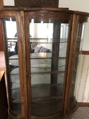 Curio Cabinet, beautiful. All Glass for Sale in Middle River, MD