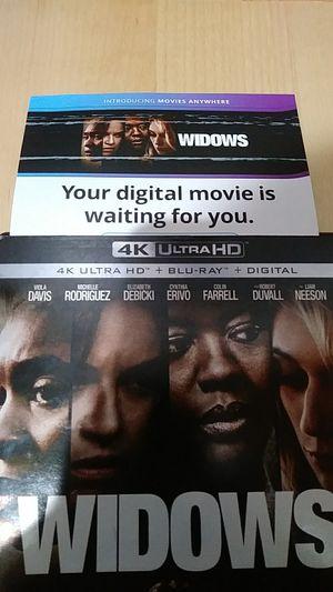 Widows 4K digital for Sale in Fontana, CA