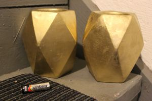 Cement Gold Covered Vases (2) for Sale in McKnight, PA
