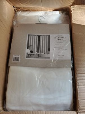 Exclusive Home White Indoor/Outdoor Curtains for Sale in Noblestown, PA