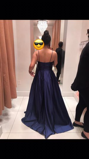 PROM DRESS WORE ONES NAVY BLUE !!! for Sale in Miami, FL