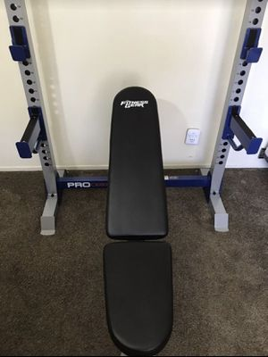 Weight bench & Squatting Rack (Brand New In Box) Just Bench Weights Not Included! for Sale in Santa Ana, CA