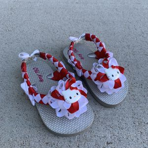 Handmade Red/White Hello Kitty Sandal's for Sale in Thornton, CO