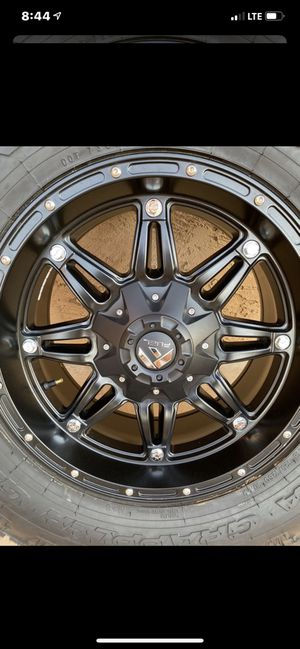 Fuel rims and nitto grappler g2 for Sale in Apache Junction, AZ