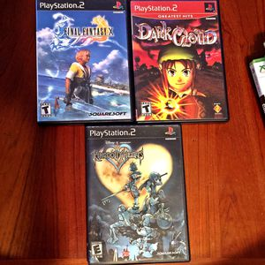 PS2 RPG/Action 3 PACK!!! Final Fantasy X • Kingdom Hearts • Dark Cloud for Sale in Leominster, MA