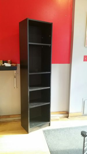 5 Shelf Black Bookcase for Sale in Silver Spring, MD