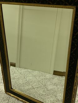 Black And Gold Mirror Large for Sale in Norfolk,  MA