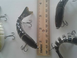 5 pcs 3.5 inch Fishing bait lure multi jointed 5pcs for Sale in San Diego, CA
