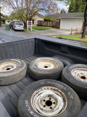 "15"" Chevy truck steel wheels for Sale in San Jose, CA"